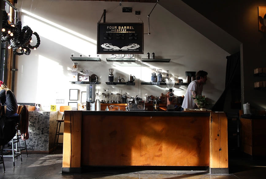 fourbarrel coffee店内